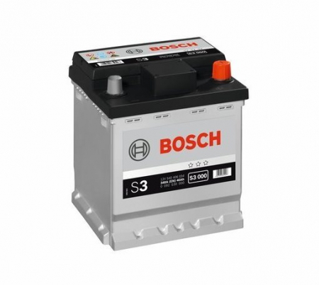 Аккумуляторная батарея Bosch S3, 12 В, 40 А/ч, 340 А, 0092S30000