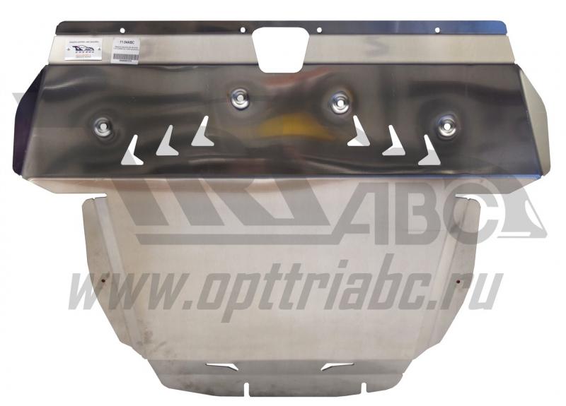 Защита картера двигателя и кпп Kia Sorento (Киа Соренто) V-2.4 (2009-12) (Алюминий 4 мм), 1104ABC