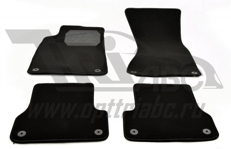 Коврики салона текстильный Audi A7 (2010) (Велюр, полиамид)(подпятник п/у)(черные), NPA00VTE050450A