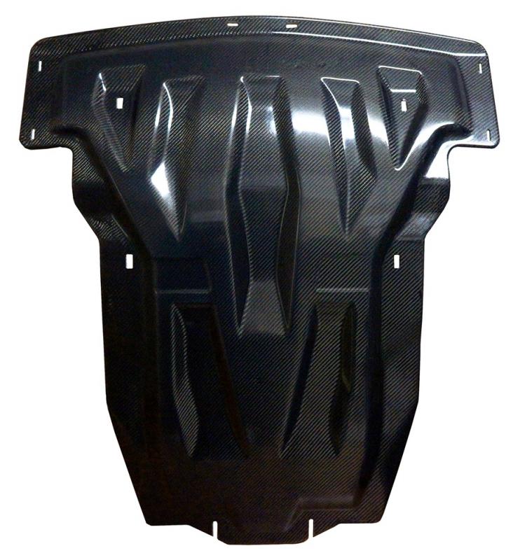 Защита картера двигателя и кпп MB ML350 W166, V-3,5; 3,0TD (2011-) , из 2-х частей, (Карбон 10 мм),