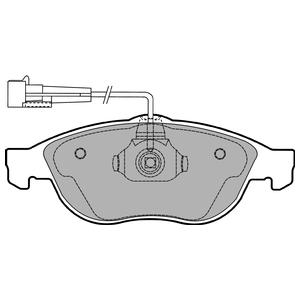 Колодки дисковые, DELPHI, LP1404