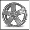 Колесный диск Fr replica 735 6.5x17/5x114,3 D58.6 ET45 серебристый с полированным ободом (MIS)