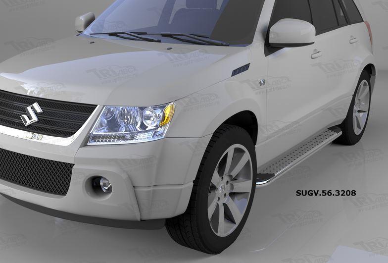 Пороги алюминиевые (Opal) Suzuki Grand Vitara (2006-2010-), SUGV563208