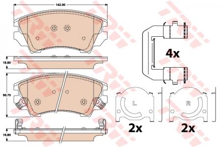 Колодки дисковые Передние, TRW, GDB1783