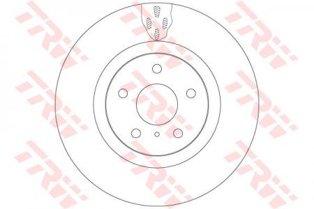 Диск тормозной передний, TRW, DF6480