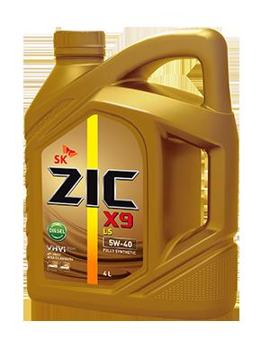 Масло моторное ZIC X9 LS Diesel 5W-40, 4л, 162609