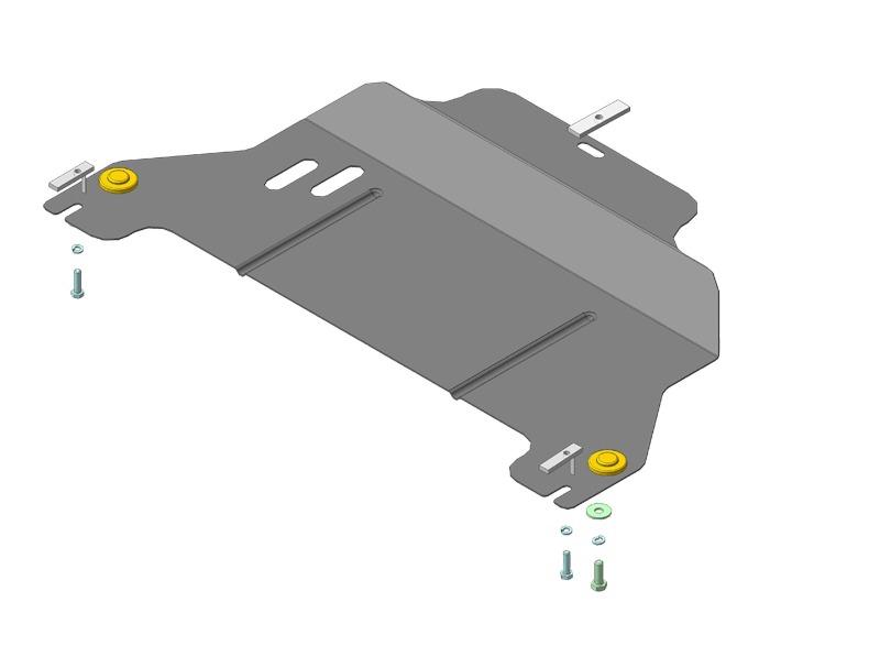 Защита картера двигателя, КПП Chery Indis S18D 2010- V=1,3i (сталь 2 мм), MOTODOR69001