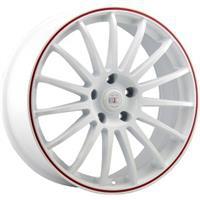 Колесный диск Alcasta M31 8x18/5x114,3 D66.1 ET45 белый с красной полосой по ободу (WRS)