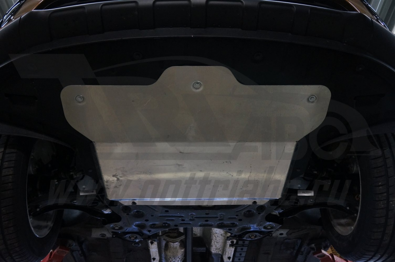 Защита картера двигателя и кпп Hyundai Tucson, V-все, (2015 -)/Kia Sportage, V-все, (2016-)(Алюминий