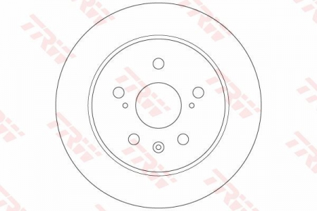 Диск тормозной задний, TRW, DF6178