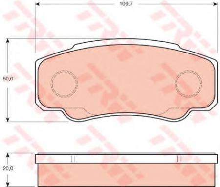 Колодки дисковые Задние, TRW, GDB3441