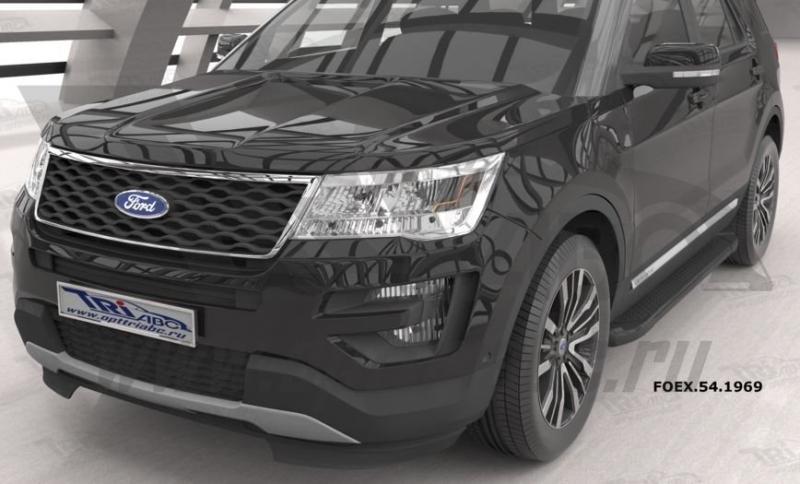 Пороги алюминиевые (Sapphire Black) Ford Explorer (2011-), FOEX541969