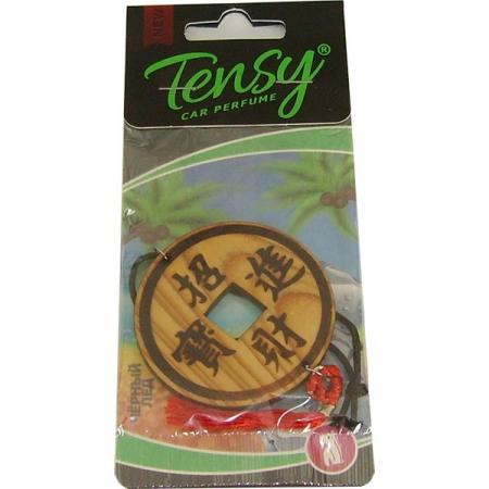 Ароматизатор Tensy дерево, Монета на удачу (Черный лед) 25шт./блок, TT05