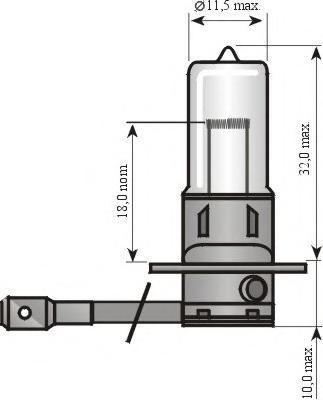 Лампа, 12 В, 55 Вт, H3, Pk22s, HELLA, 8GH 002 090-131