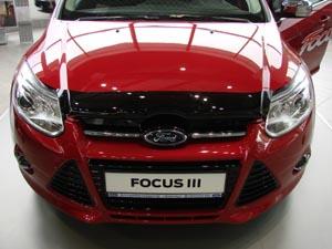 Дефлектор капота Ford Focus (2011-2015) (темный), SFOFO31112