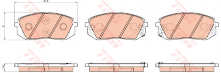 Колодки дисковые Передние, TRW, GDB3530