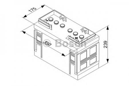 Аккумуляторная батарея Bosch T3, 12 В, 110 А/ч, 680 А, 0092T30360