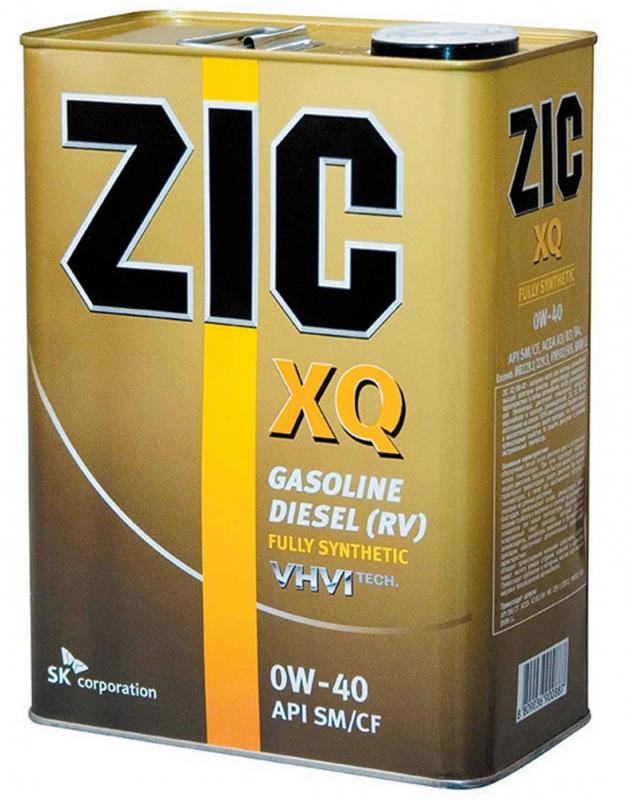 Масло моторное ZIC XQ 0W-40, 4л, 167020