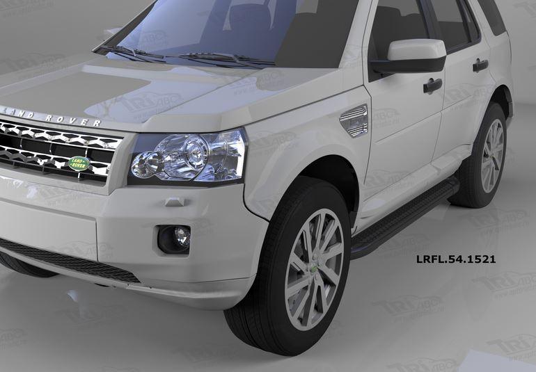 Пороги алюминиевые (Sapphire Black) Land Rover Freelander 2 (2008-), LRFL541521