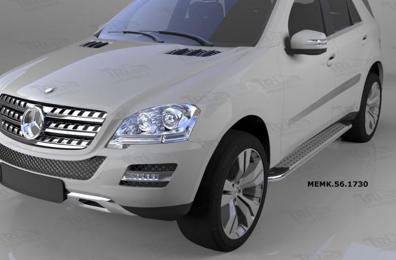 Пороги алюминиевые (Opal) Mercedes ML W164 (2006-2011), MEMK561730
