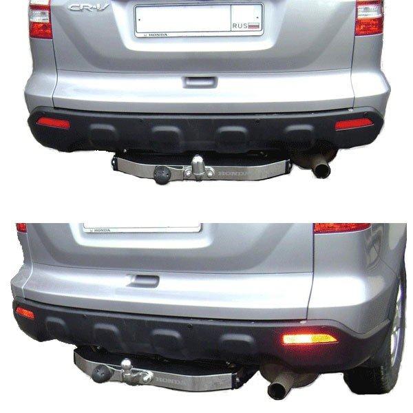 Фаркоп Honda (Хонда) CR-V (10/2006-2012) нерж. накладка, без электрик, БАЛТЕКС, HO06ANM