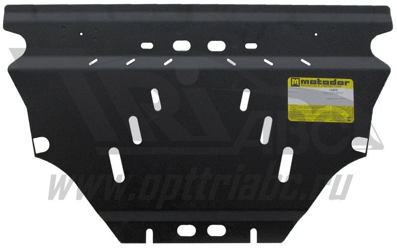 Защита картера двигателя, КПП Hyundai Genesis Coupe 2012- V=2,0D (сталь 3 мм), MOTODOR10902