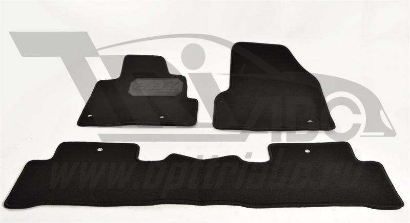 Коврики салона текстильный Honda Pilot (2008-) (Велюр, полиамид)(подпятник п/у)(черные), NPLVTE30052