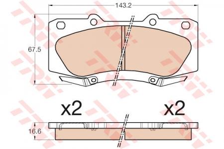 Колодки дисковые Передние, TRW, GDB3534
