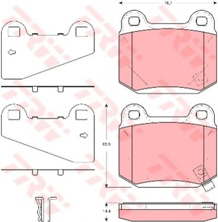 Колодки дисковые Задние, TRW, GDB3350