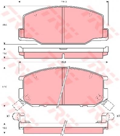 Колодки дисковые, TRW, GDB1190