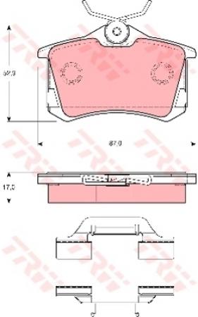 Колодки дисковые Задние, TRW, GDB1416