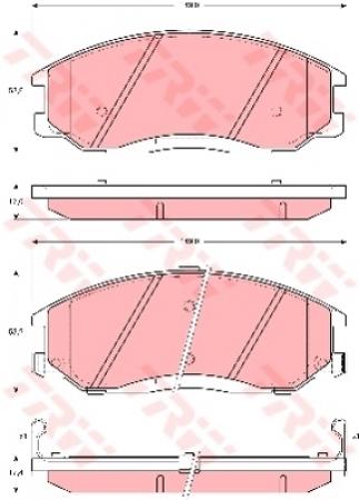 Колодки дисковые Передние, TRW, GDB3244
