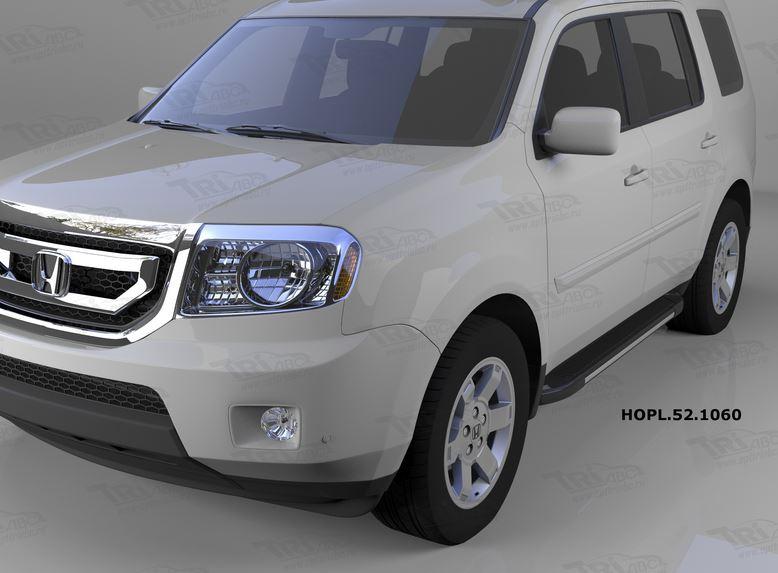Пороги алюминиевые (Onyx) Honda (Хонда) Pilot (2008-2010/2010-), HOPL521060