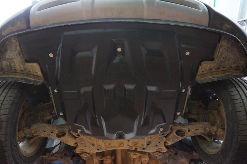 Защита картера двигателя и кпп Hyundai Santa Fe (Хёндай Санта Фе) V-2,4; 2,2TD АКПП (2012-2015-) (Ко