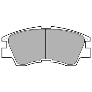 Колодки дисковые, DELPHI, LP633