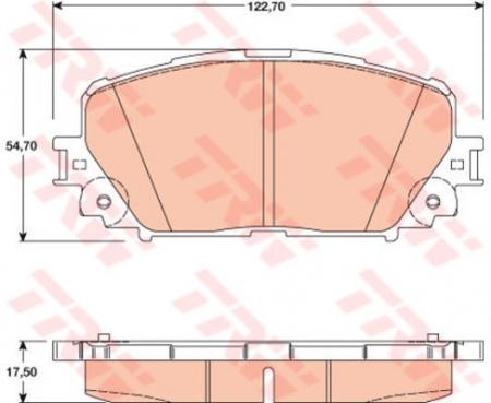 Колодки дисковые Передние, TRW, GDB3460