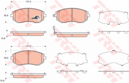 Колодки дисковые Передние, TRW, GDB3371