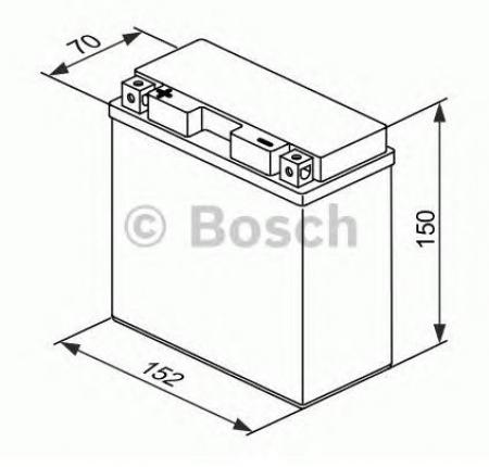 Аккумуляторная батарея Bosch Funstart AGM, 12 В, 12 А/ч, 130 А, 0092M60200