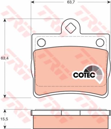 Колодки дисковые Задние, TRW, GDB1283