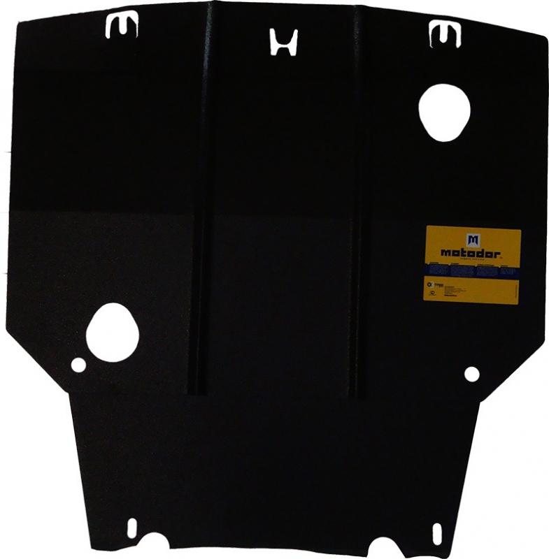 Защита картера двигателя, КПП Honda Fit 2001-2008 Honda Jazz I 2001-2008 V=1,5i (сталь 2 мм), MOTODO