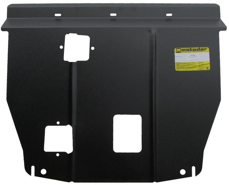 Защита картера двигателя, КПП Kia Sorento IV 2012- V=2,2 CRDi (сталь 2 мм), MOTODOR01032