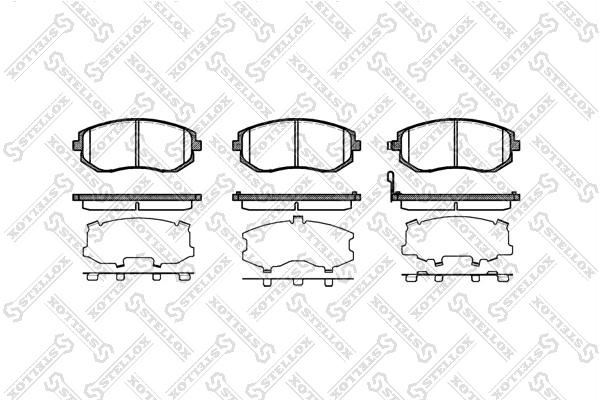 Колодки дисковые, STELLOX, 962011BSX