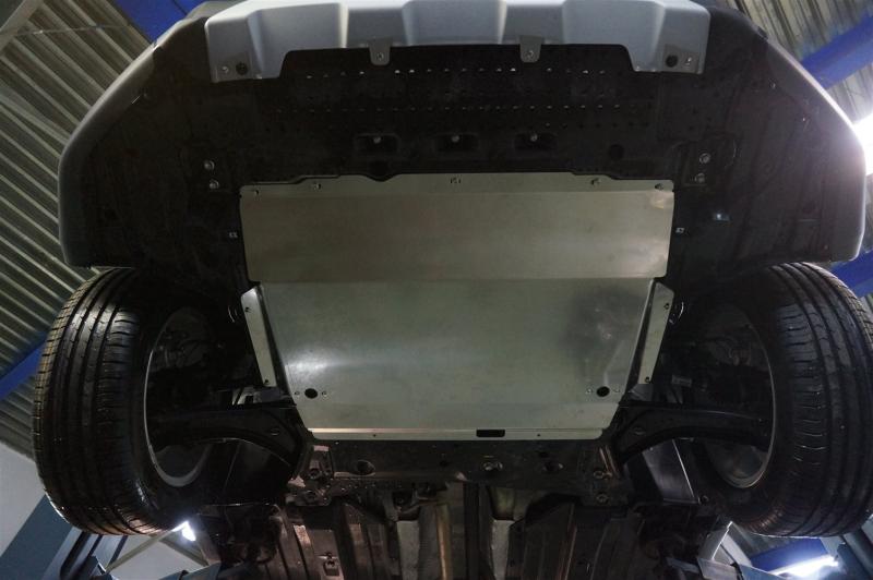 Защита картера двигателя и кпп Suzuki SX4 V-1,6 (2014-) (Алюминий 4 мм), 2310ABC