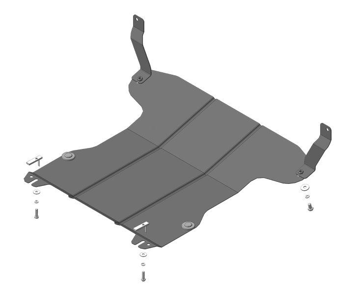 Защита картера двигателя, КПП Ford Fiesta V 2001-2008 Mazda 2 (DY) 2003-2007 V= все, кроме 1,4TD (ст