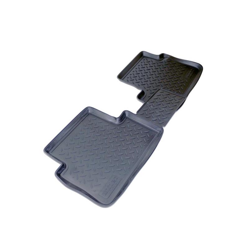 Коврики салона для Ford Tourneo Connect (2006-) задние (черные)(перемычка), NPLPO2271