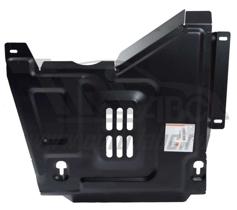 Защита кислородного датчика и катализатора Renault Duster,V-все (2015-) только для 4WD (Сталь 1.8 мм