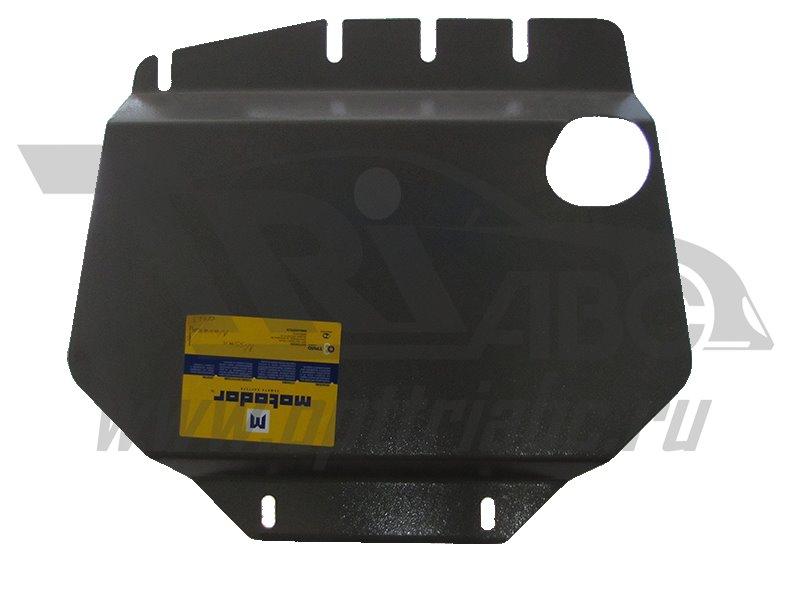 Защита картера двигателя, КПП, РК Nissan Navara III (D40) 2005- V= все (сталь 2 мм), MOTODOR01423