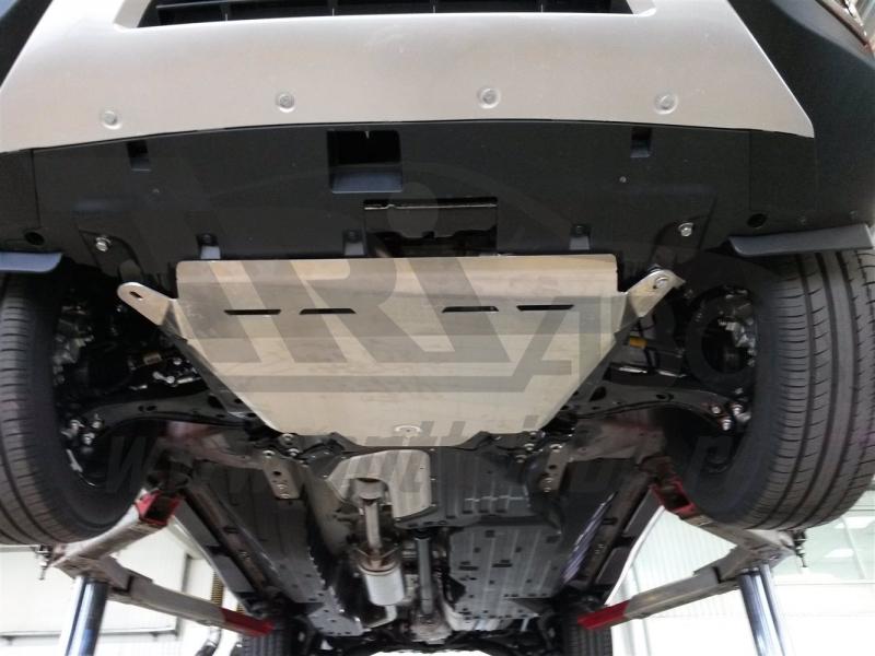 Защита днища Honda CR-V; V-2,4 (2015-) из 3 частей (Алюминий 4 мм), 0932ABC