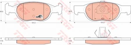 Колодки дисковые Передние, TRW, GDB1339