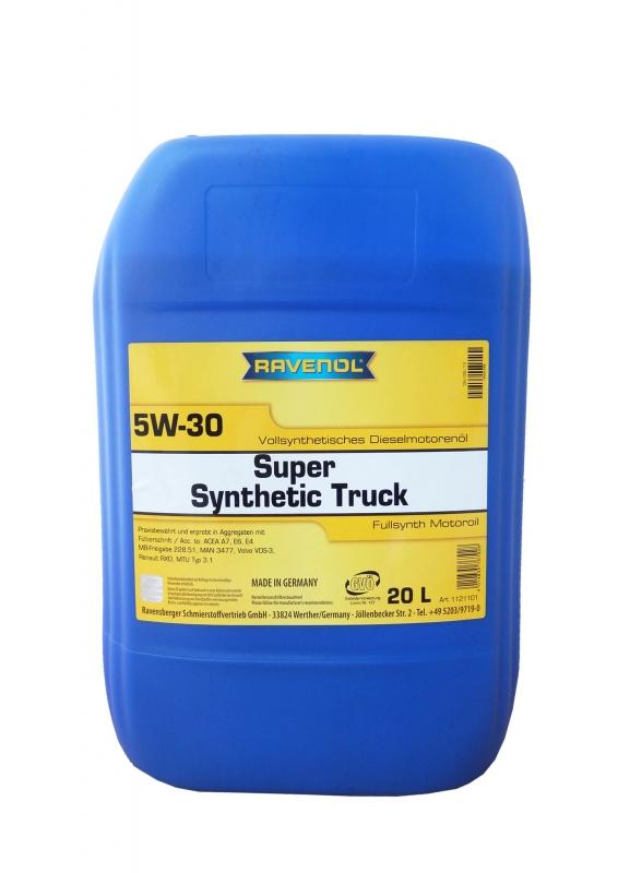 Моторное масло RAVENOL Super Synthetic Truck, 5W-30, 20л, 4014835767928